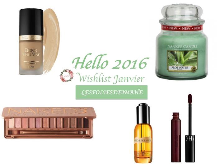 Hello 2016 ! Wishlist de Janvier<3