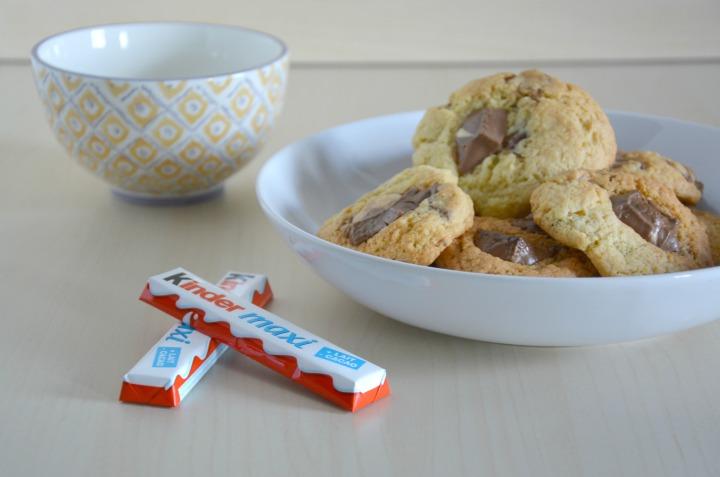 Recette facile: Cookies au Kinder Maxi<3