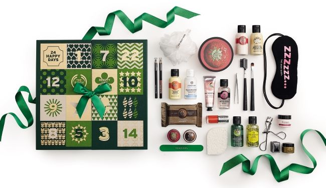 Calendrier de l'avent classique the body shop à 85€