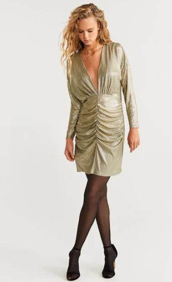 Robe col drapé MANGO 49,99€