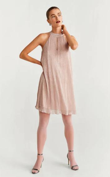 Robe à fils métallisés MANGO 35,99€